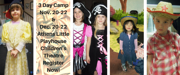 Text in image: Athens Little Playhouse Day Camps
