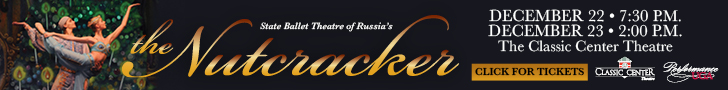 Text in image: The Nutcracker, Classic Center