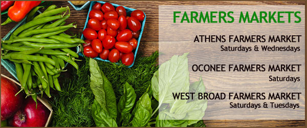 Farmers Markets in Athens & Oconee