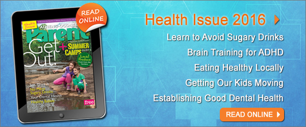 Image of magazine cover; Text in image: Read the Health 2016 issue of Athens-Oconee Parent Magazine online