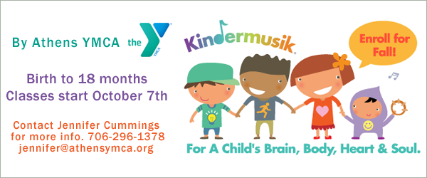 Kindermusik program at the Athens YMCA