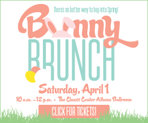 Text in image: Bunny Brunch at the Classic Center